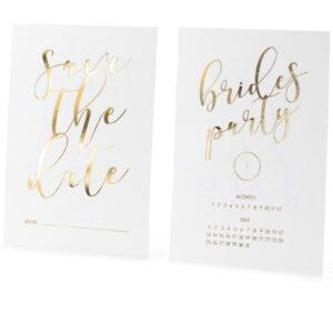 POZVÁNKY na rozlučku se svobodou se zlatým písmem 10ks