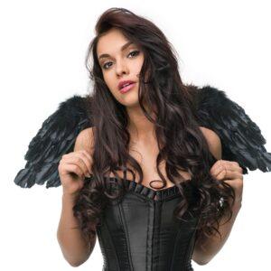 PartyDeco Andělská křídla - černá