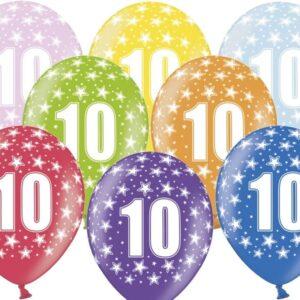 PartyDeco Balónek s číslem 10 narozeninový