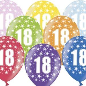 PartyDeco Balónek s číslem 18 narozeninový