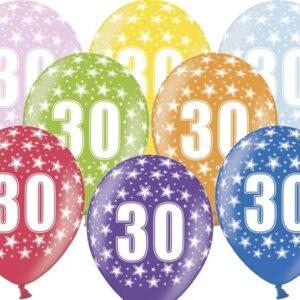 PartyDeco Balónek s číslem 30 narozeninový