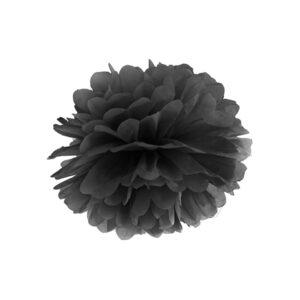 PartyDeco Dekorace - Černý Pompom
