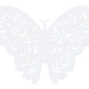 PartyDeco Dekorace Motýl - bílá