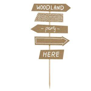 PartyDeco Dekorace Ukazovatel směru Woodland