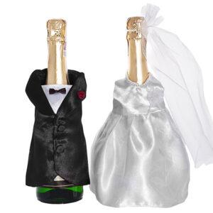 PartyDeco Dekorace ženich a nevěsta - oblek na šampaňské