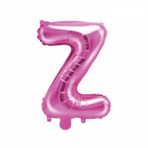 PartyDeco Fóliový balónek Mini - Písmeno Z 35cm růžový