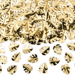 PartyDeco Konfety - zlaté listy