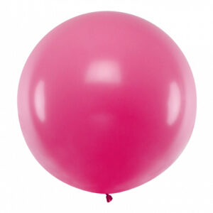 PartyDeco Kulatý latexový Jumbo balón 1 m - fuchsiový