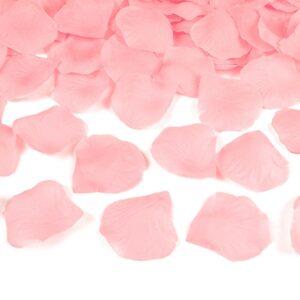 PartyDeco Lupeny růží světle růžové 500 ks