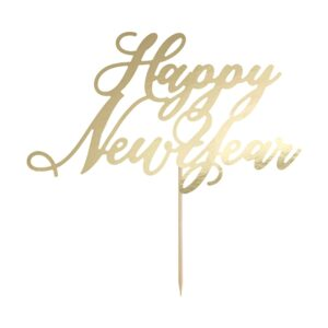 PartyDeco Ozdoba na dort - Happy New Year