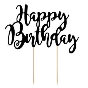 """PartyDeco Ozdoba na dort """"Happy Birthday"""""""