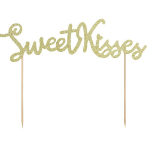 PartyDeco Ozdoby na dort - Sweet kisses