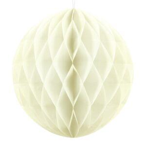 PartyDeco Papírová koule krémová 40 cm