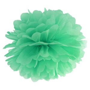PartyDeco Pompom ve tvaru květu mátový 35 cm