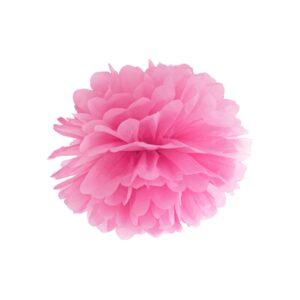 PartyDeco Pompom ve tvaru květu růžový 25 cm