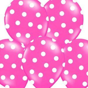 PartyDeco Puntíkovaný balónek teplá růžová