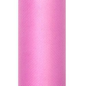 PartyDeco Tyl hladký - baby růžový