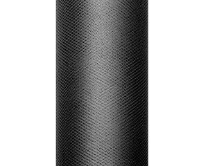 PartyDeco Tyl hladký - černý 0
