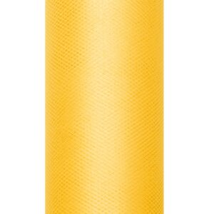 PartyDeco Tyl hladký - žlutý