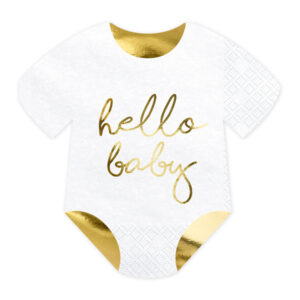 PartyDeco Ubrousky - hello baby