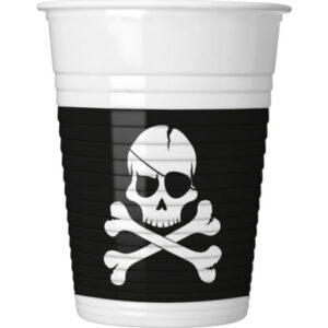 Procos Kelímky Černí piráti 8 ks