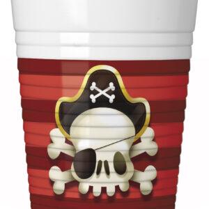 Procos Kelímky Piráti 8 ks