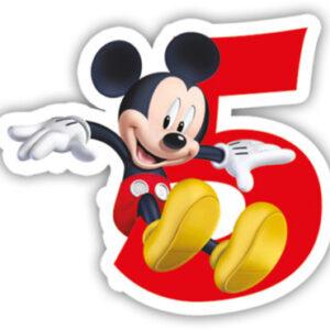 Procos Narozeninová svíčka Mickey Mouse - číslo 5