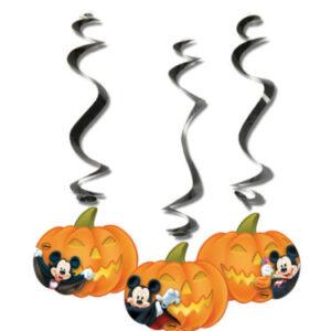 Procos Visíci dekorace ve tvaru dýně - Mickey Halloween 3 ks