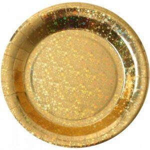 TALÍŘE holografické zlaté 22