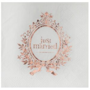 UBROUSKY Just Married Rose Gold 25x25cm 20ks