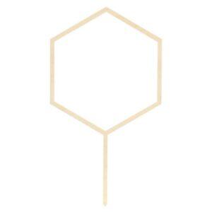 ZÁPICH dekorační dřevěný Hexagon 24cm