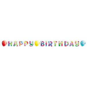 Amscan Banner Happy Birthday - Barevné balóny