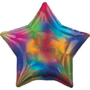 Amscan Fóliový balón - Holografická duha Hvězda
