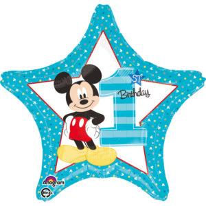 Amscan Fóliový balón - Prvé narodeniny Mickey