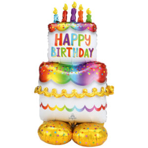 Amscan Fóliový balónek - Narozeninový dort Airloonz