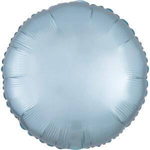 Amscan Fóliový balónek kruh satén - Světle modrý