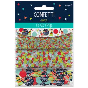 Amscan Konfety - Happy Birthday mix