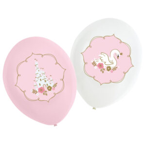 Amscan Latexové balóny Růžový zámek / Labuť 6 ks