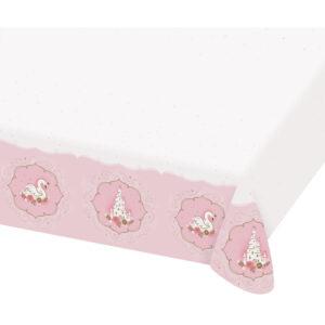 Amscan Papírový ubrus - Růžový zámek / Labuť 120 x 180 cm