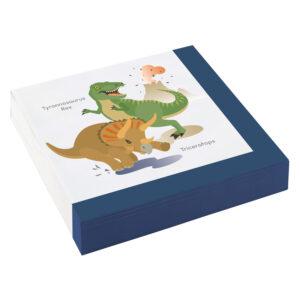 Amscan Ubrousky Šťastný Dinosaurus 20 ks