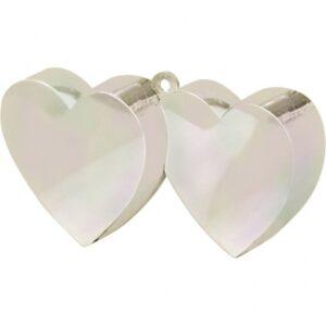 Amscan Závaží na balónky Srdce perleťové