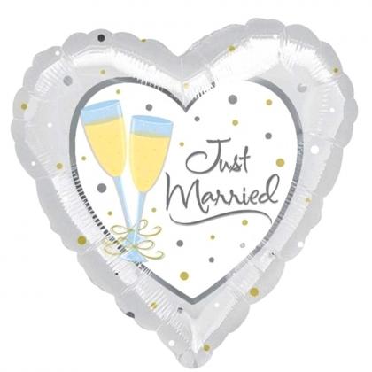 BP Fóliový balón - svatební Just Married Jumbo US