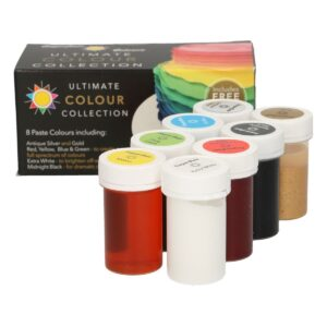 CakeSupplies Sada luxusních gelových barev Sugarflair Ultimate Collection 8x25g