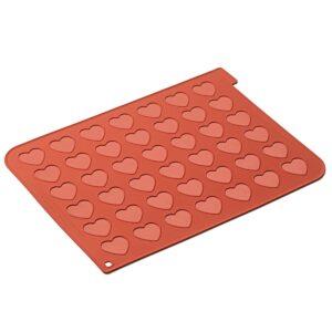 CakeSupplies Silikonová forma na makrónky ve tvaru srdce 30 x 40 cm