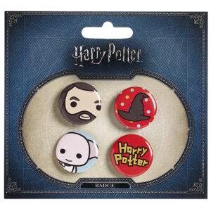 Distrineo Sada odznaků Harry Potter - Chibi 4 ks
