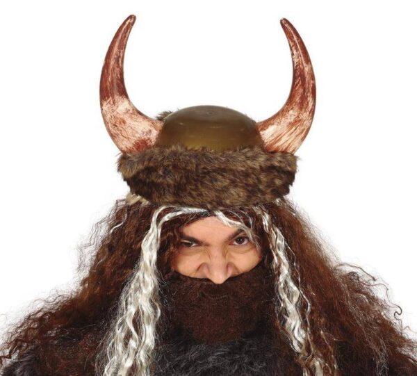 Guirca Vikingská helma s kožešinou