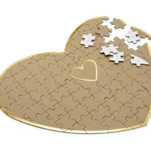 PartyDeco Kniha hostů - Puzzle srdce