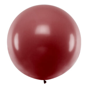 PartyDeco Kulatý latexový Jumbo balón 1 m - bordó