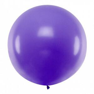 PartyDeco Kulatý latexový Jumbo balón 1 m - levandulový