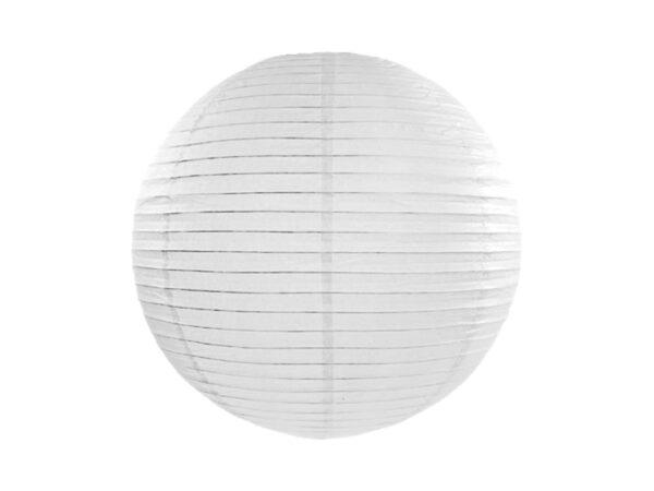PartyDeco Kulatý papírový lampion bílý 25 cm